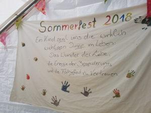 Plakat Sommmerfest Kindertagespflege